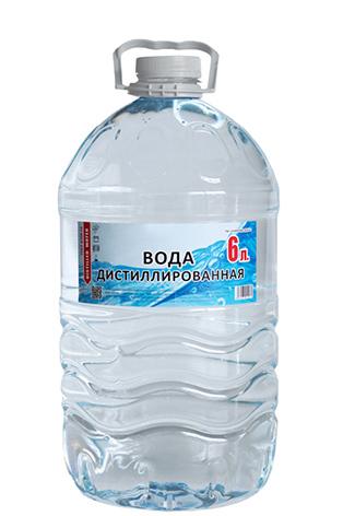 Дистиллированная вода шесть 6 литров